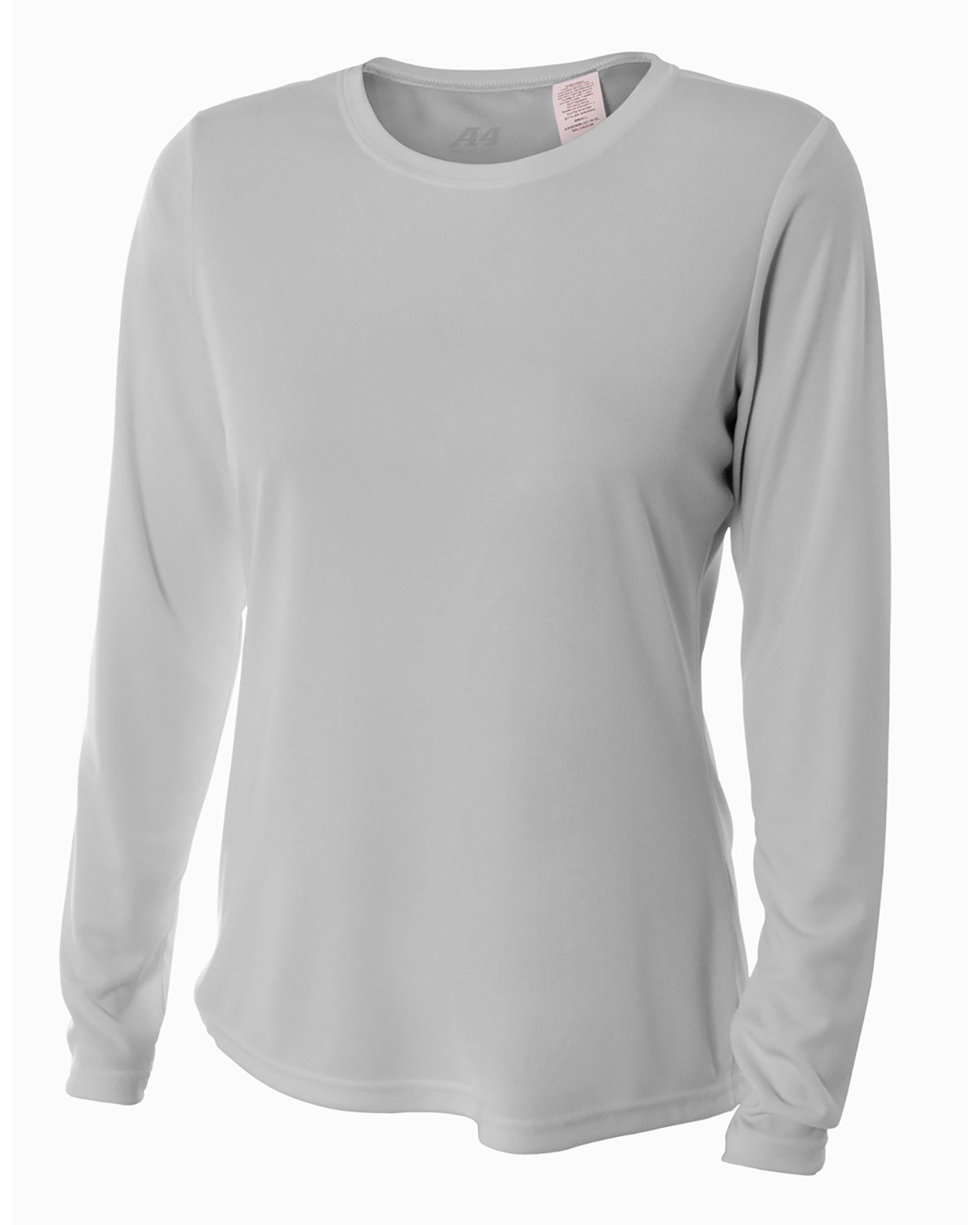 A4 Ladies' Long Sleeve Cooling Performance Crew Shirt SILVER