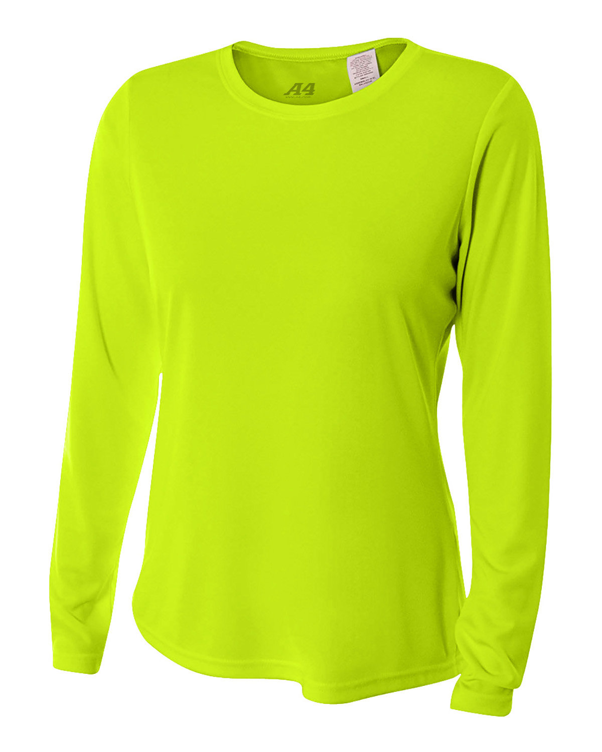 A4 Ladies' Long Sleeve Cooling Performance Crew Shirt LIME
