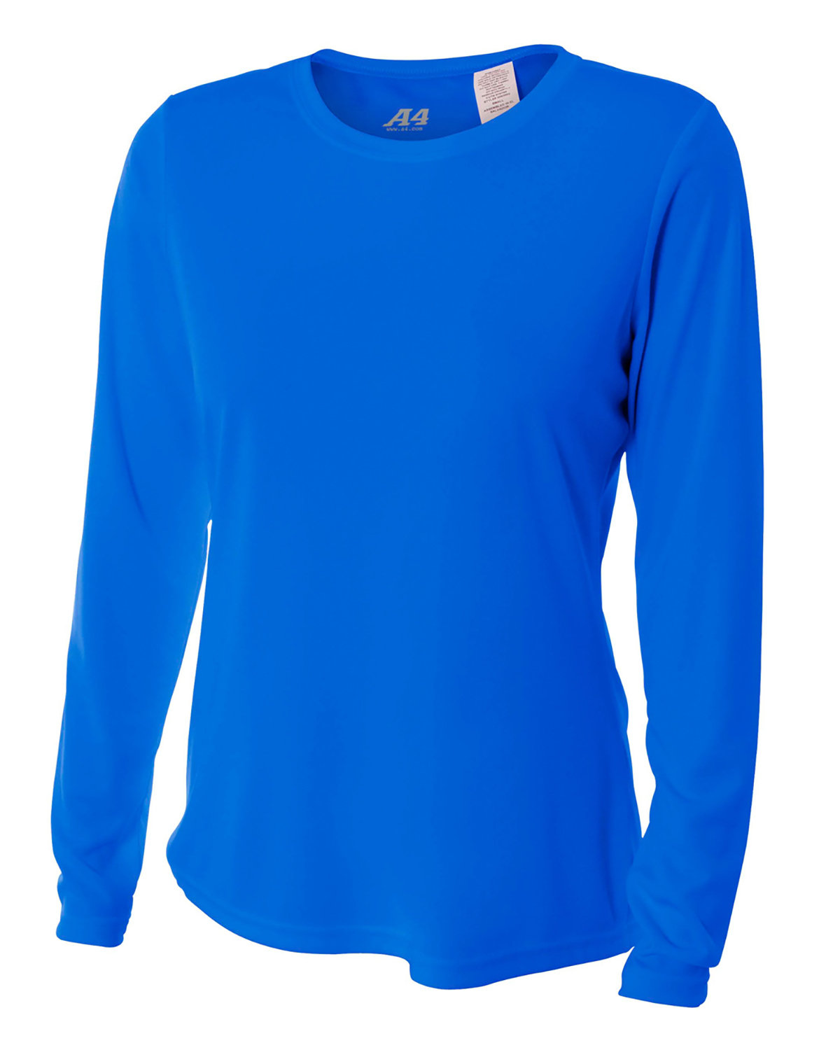 A4 Ladies' Long Sleeve Cooling Performance Crew Shirt ROYAL