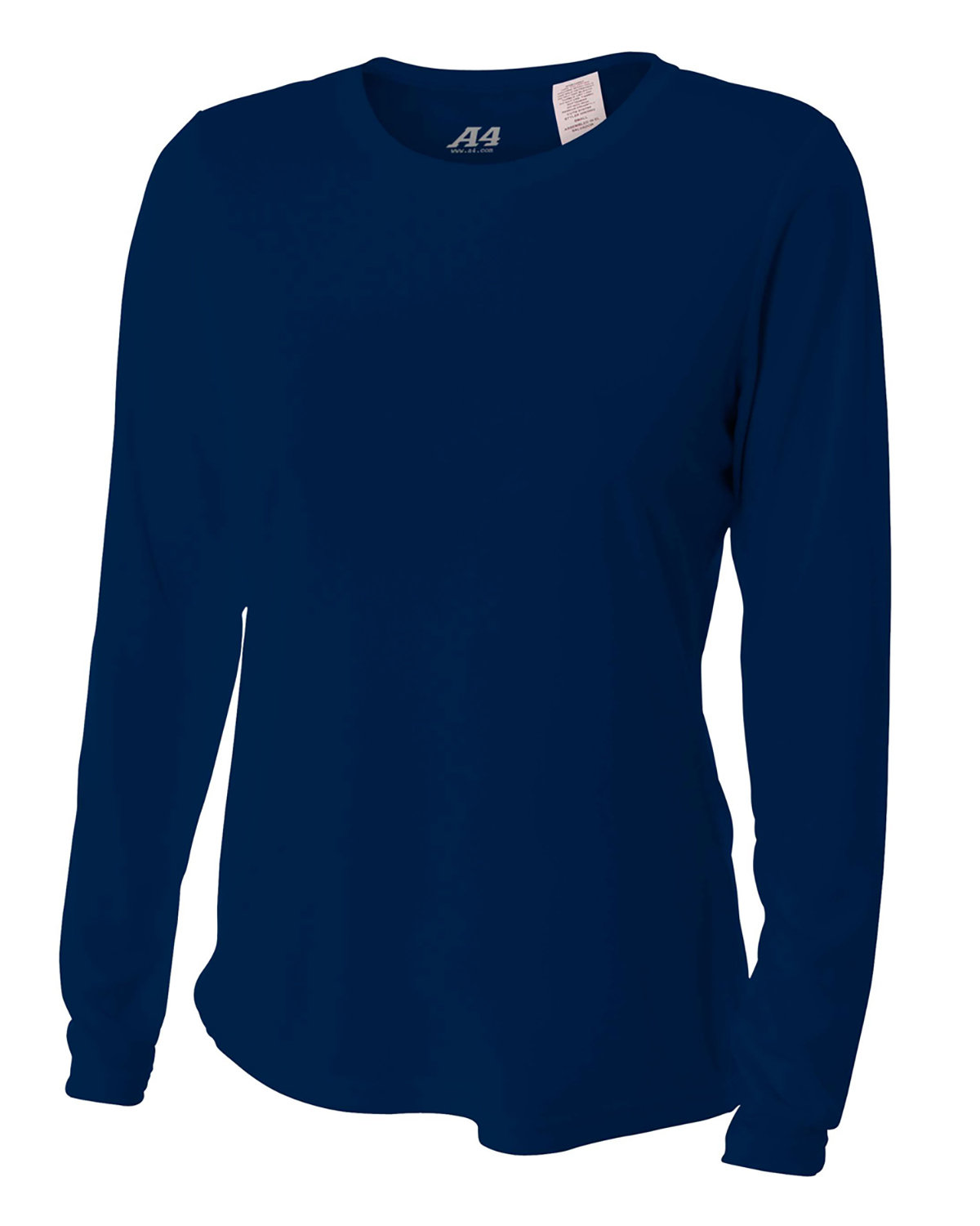 A4 Ladies' Long Sleeve Cooling Performance Crew Shirt NAVY