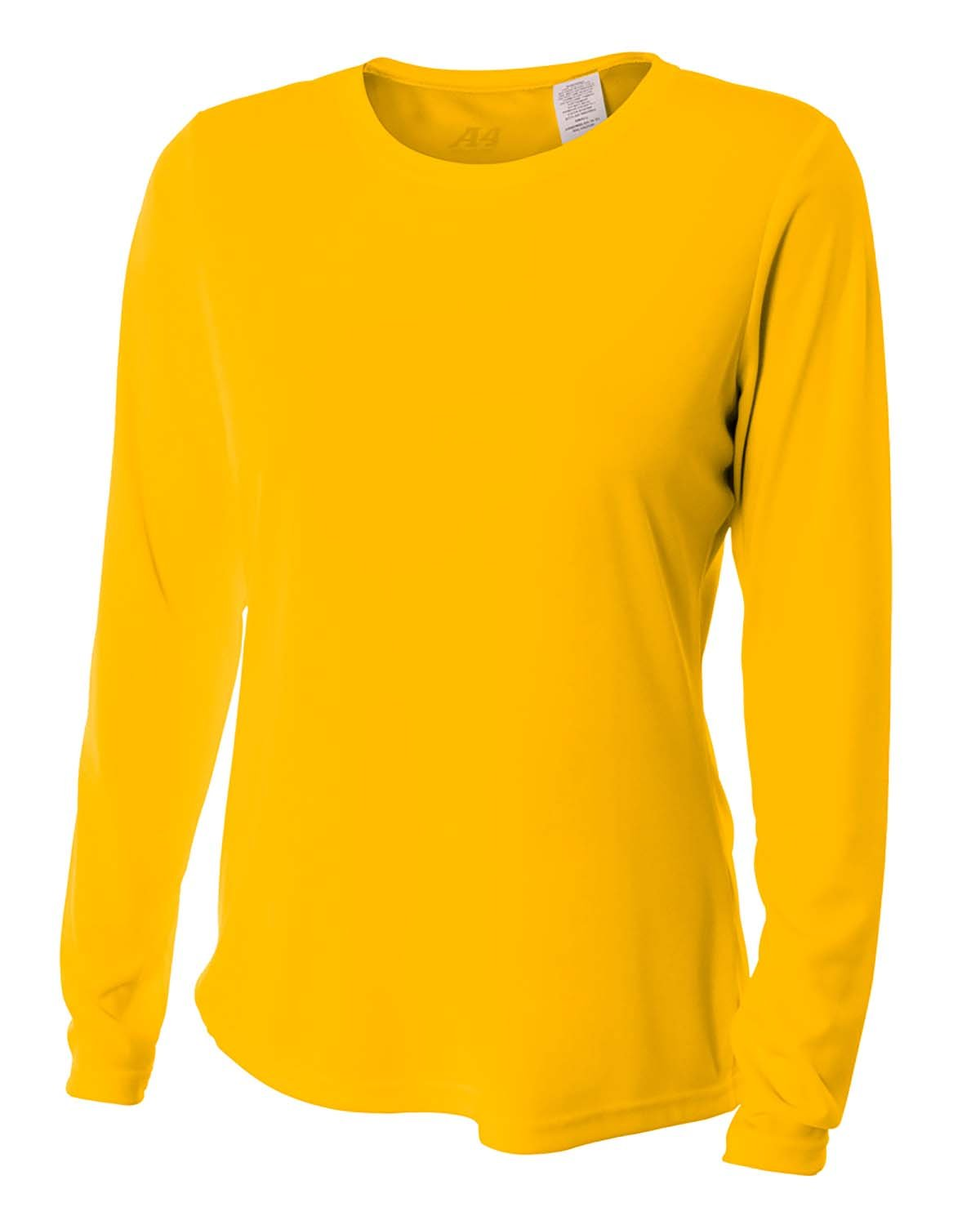A4 Ladies' Long Sleeve Cooling Performance Crew Shirt GOLD