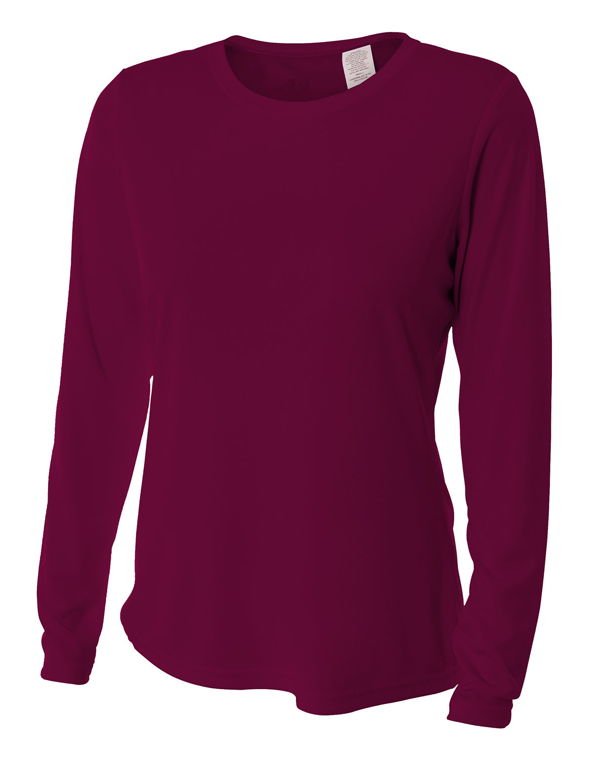 A4 Ladies' Long Sleeve Cooling Performance Crew Shirt MAROON