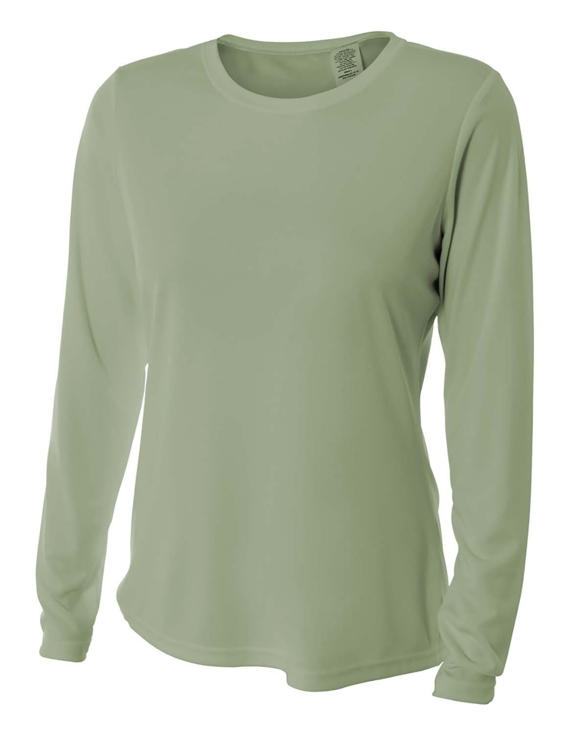 A4 Ladies' Long Sleeve Cooling Performance Crew Shirt OLIVE