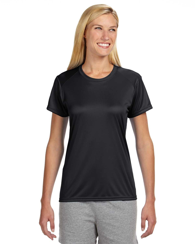 A4 Ladies' Cooling Performance T-Shirt BLACK