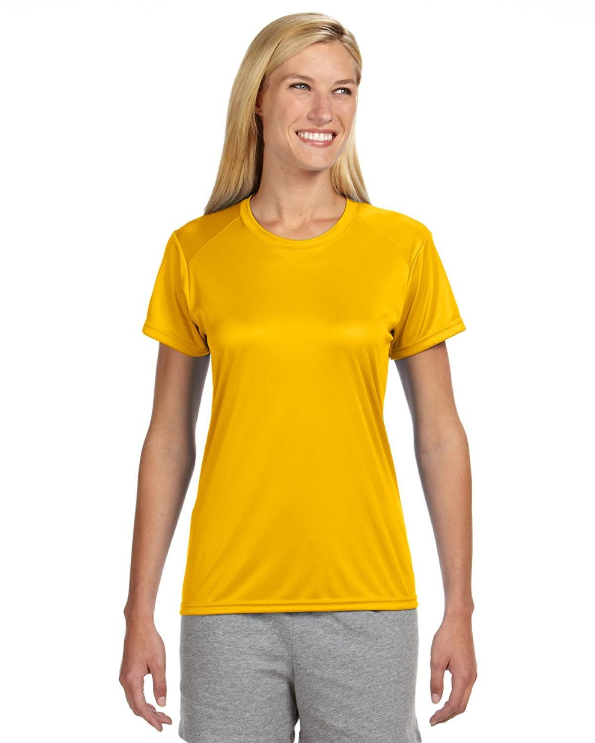 A4 Ladies' Cooling Performance T-Shirt GOLD