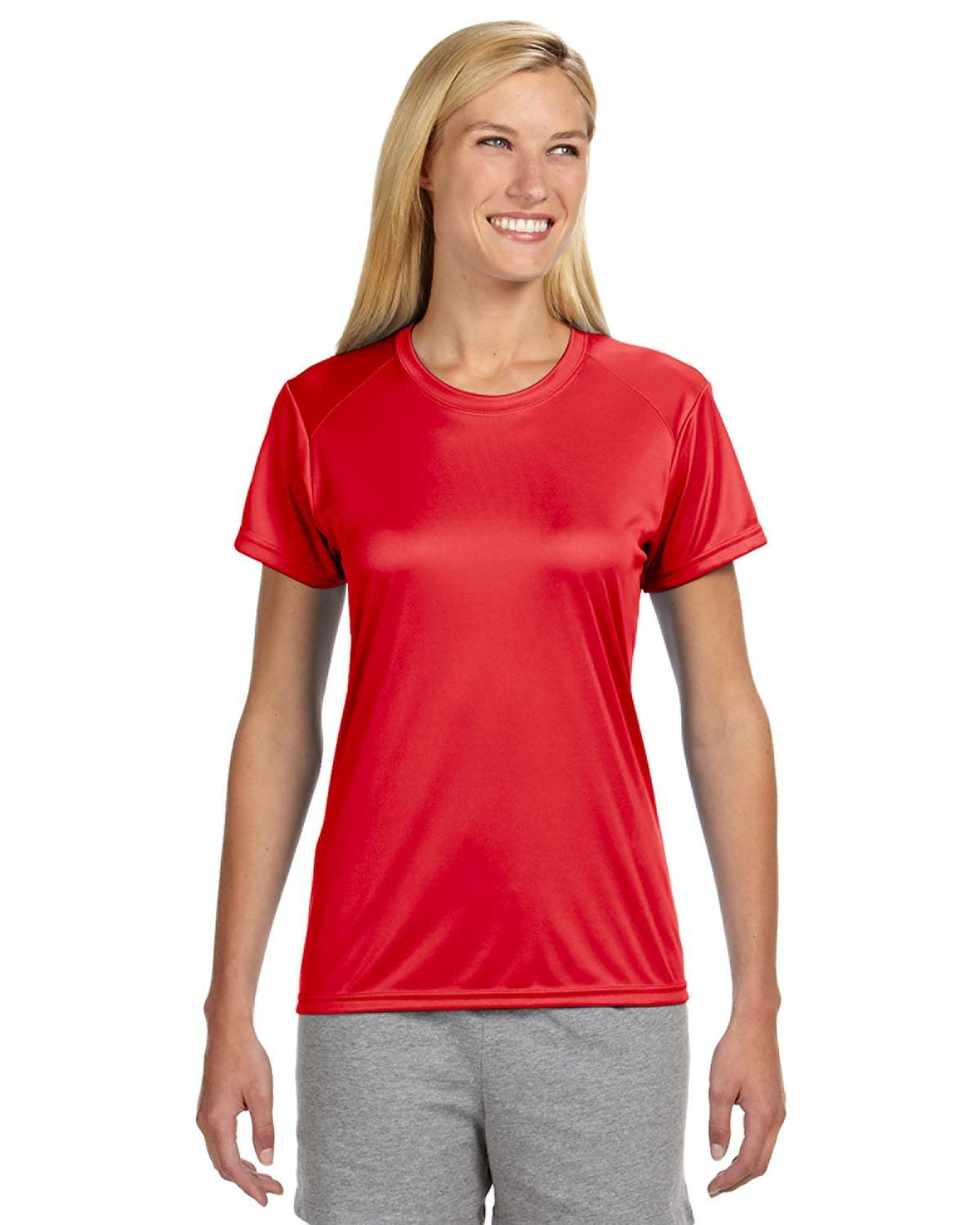 A4 Ladies' Cooling Performance T-Shirt SCARLET