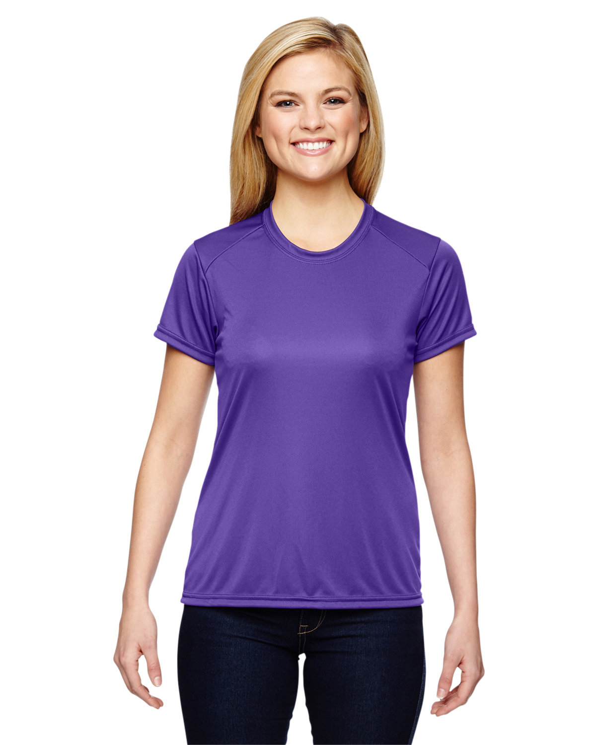 A4 Ladies' Cooling Performance T-Shirt PURPLE