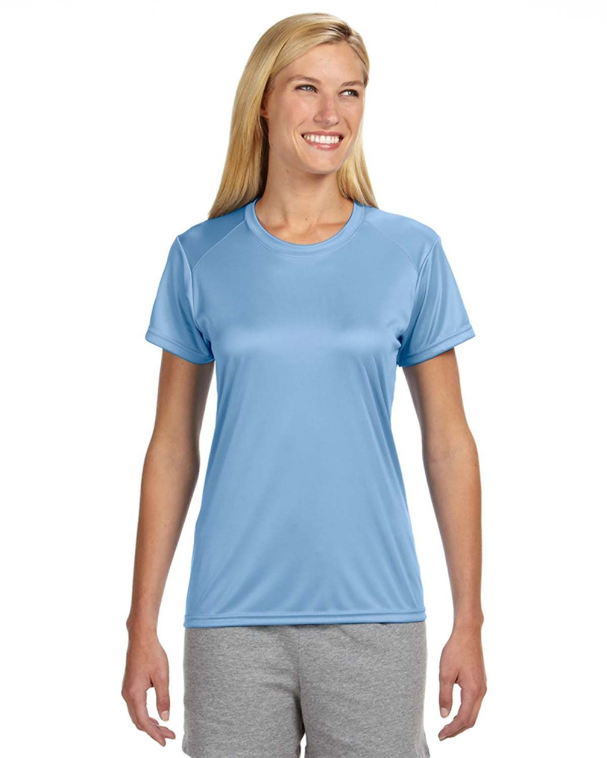 A4 Ladies' Cooling Performance T-Shirt LIGHT BLUE