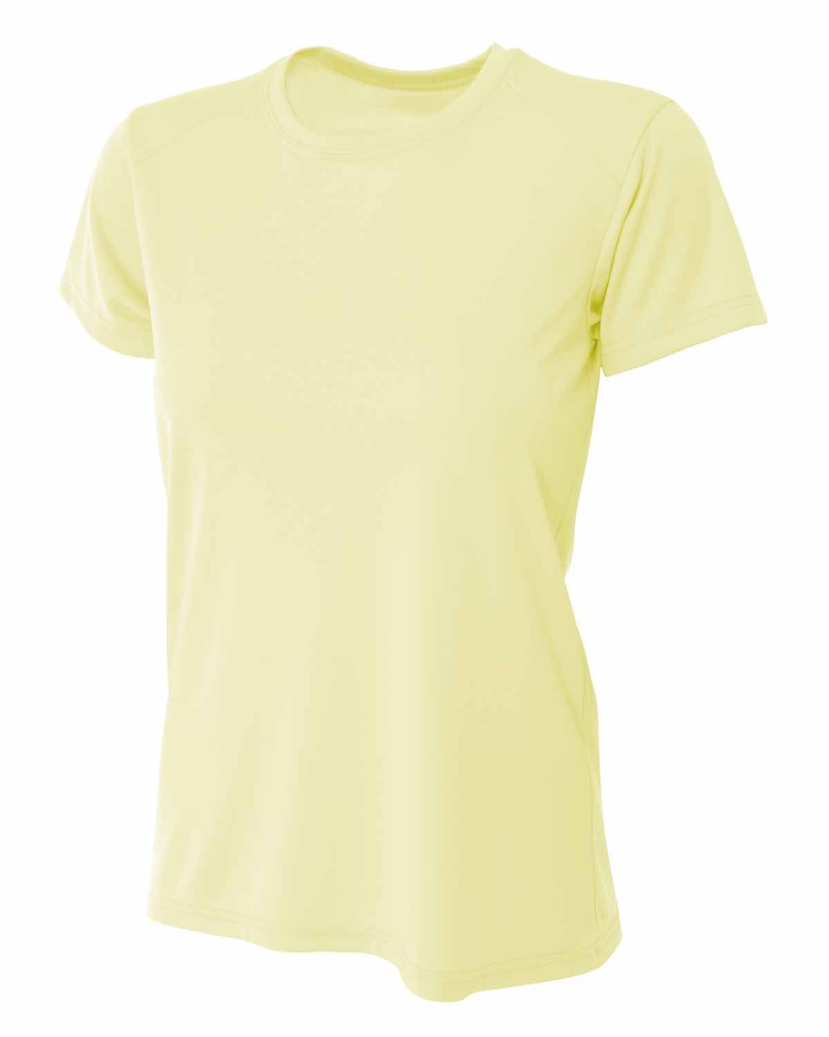 A4 Ladies' Cooling Performance T-Shirt LIGHT YELLOW