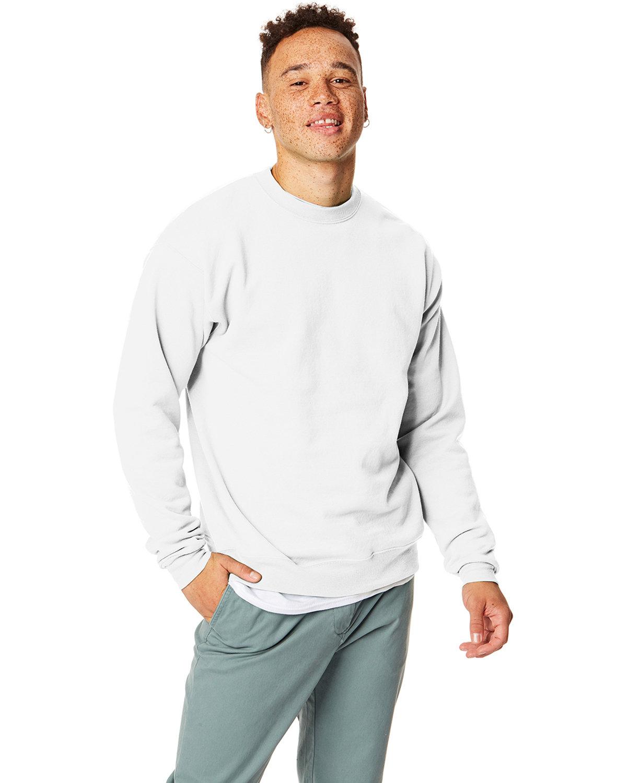 Hanes Unisex Ecosmart® 50/50 Crewneck Sweatshirt WHITE