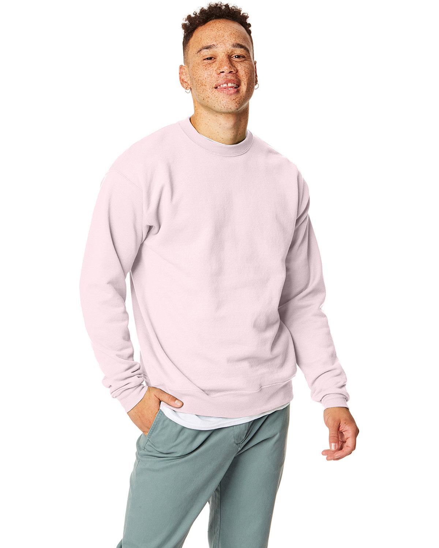 Hanes Unisex Ecosmart® 50/50 Crewneck Sweatshirt PALE PINK