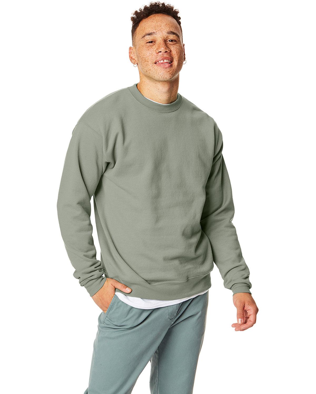 Hanes Unisex Ecosmart® 50/50 Crewneck Sweatshirt STONEWASH GREEN