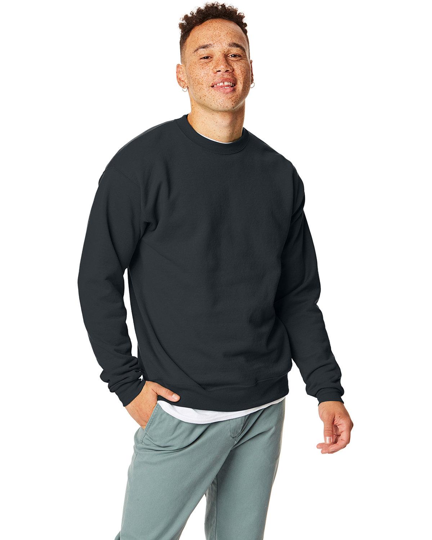 Hanes Unisex Ecosmart® 50/50 Crewneck Sweatshirt BLACK