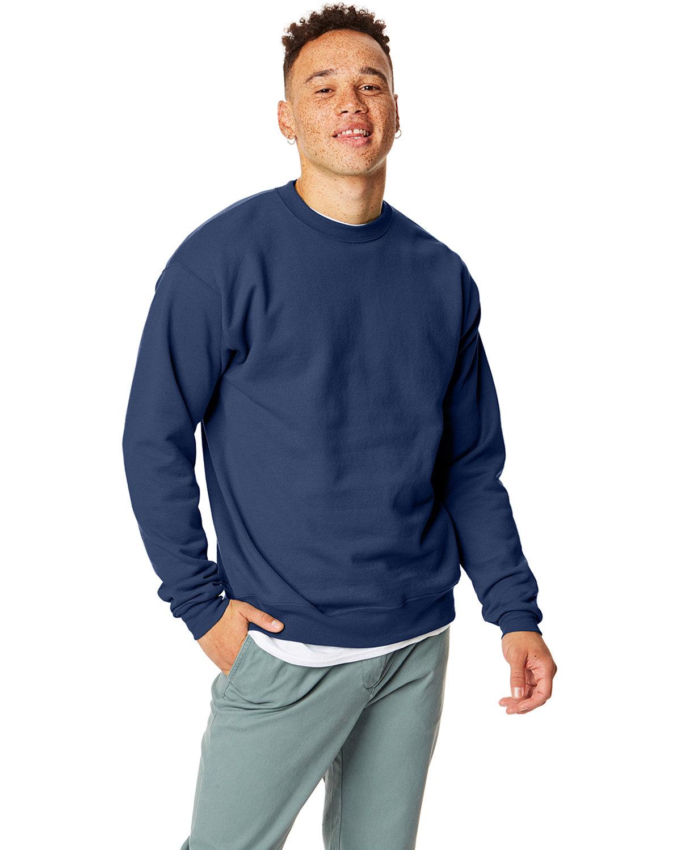 Hanes Unisex Ecosmart® 50/50 Crewneck Sweatshirt NAVY