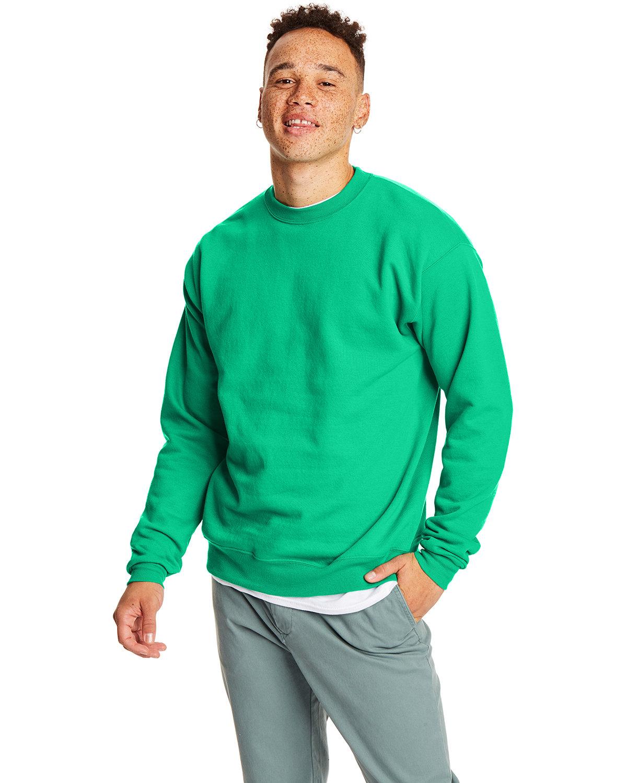 Hanes Unisex Ecosmart® 50/50 Crewneck Sweatshirt KELLY GREEN