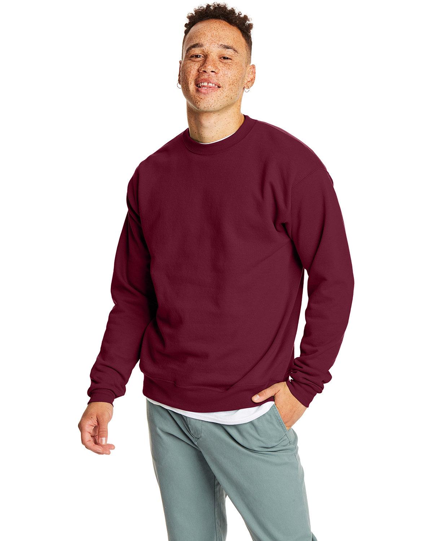 Hanes Unisex Ecosmart® 50/50 Crewneck Sweatshirt MAROON