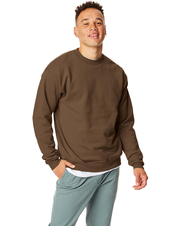 Hanes Unisex Ecosmart® 50/50 Crewneck Sweatshirt ARMY BROWN