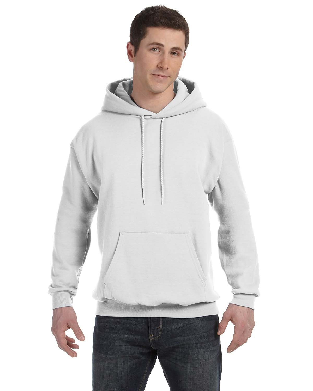 Hanes Unisex Ecosmart® 50/50 Pullover Hooded Sweatshirt WHITE