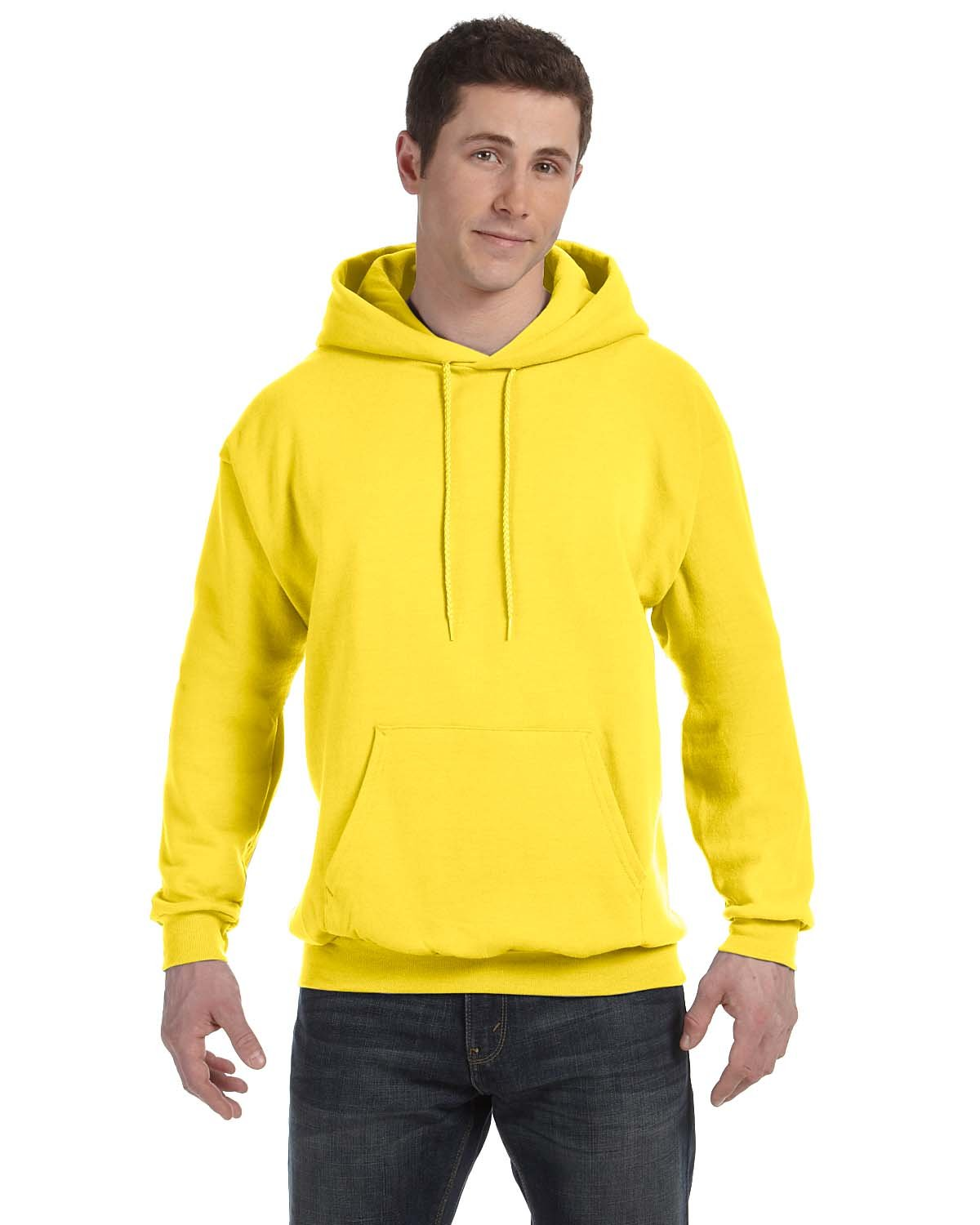 Hanes Unisex Ecosmart® 50/50 Pullover Hooded Sweatshirt YELLOW