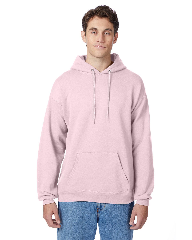 Hanes Unisex Ecosmart® 50/50 Pullover Hooded Sweatshirt PALE PINK