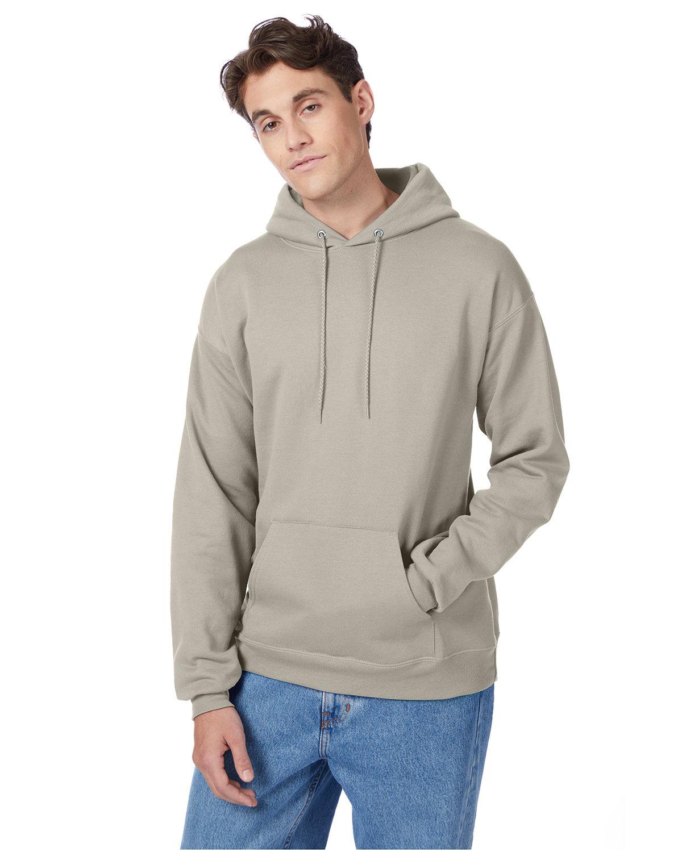 Hanes Unisex Ecosmart® 50/50 Pullover Hooded Sweatshirt SAND