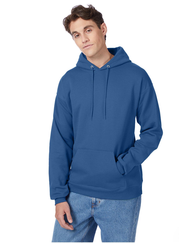 Hanes Unisex Ecosmart® 50/50 Pullover Hooded Sweatshirt DENIM