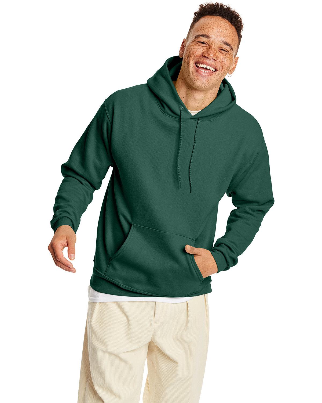 Hanes Unisex Ecosmart® 50/50 Pullover Hooded Sweatshirt DEEP FOREST