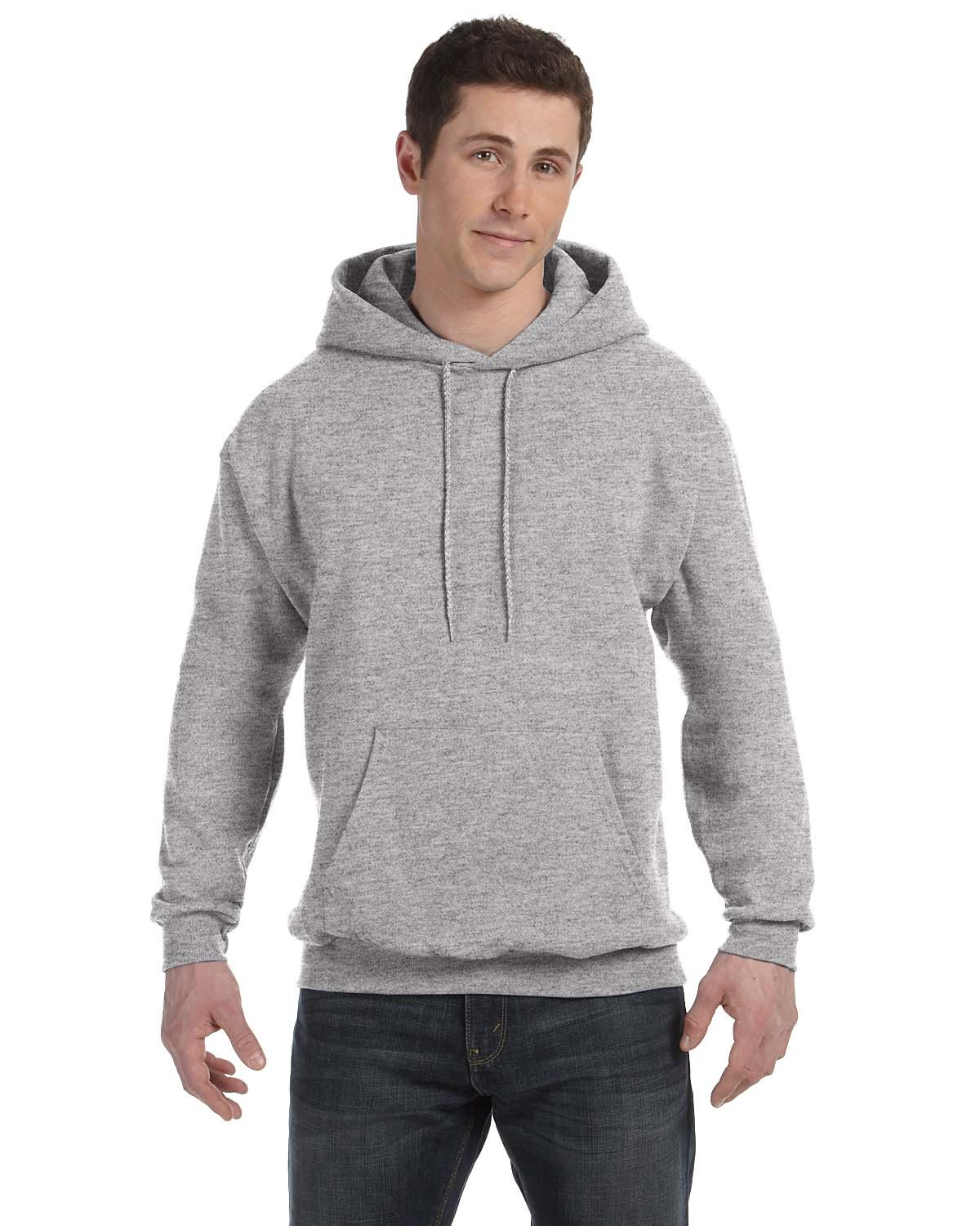Hanes Unisex Ecosmart® 50/50 Pullover Hooded Sweatshirt LIGHT STEEL