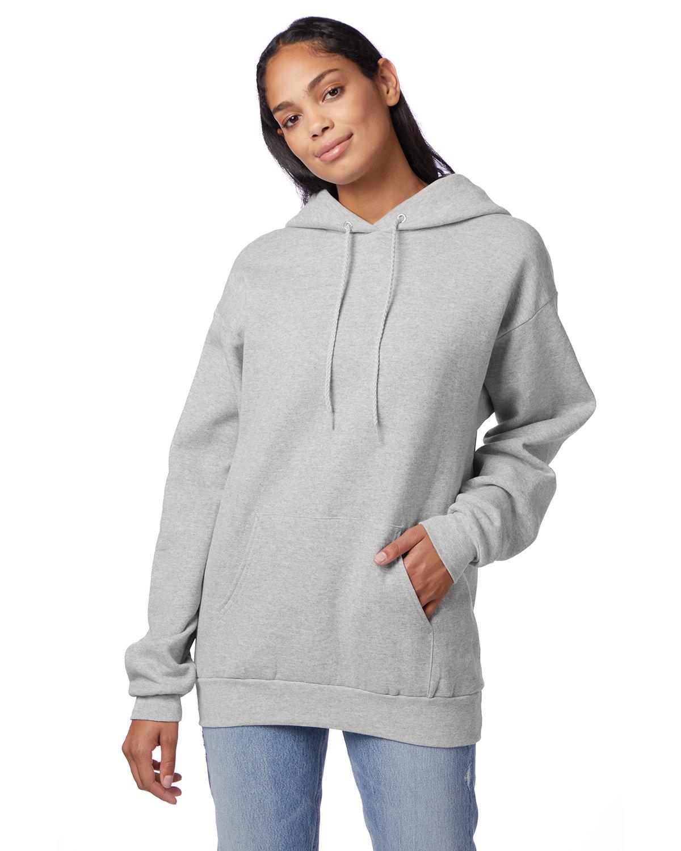 Hanes Unisex Ecosmart® 50/50 Pullover Hooded Sweatshirt ASH