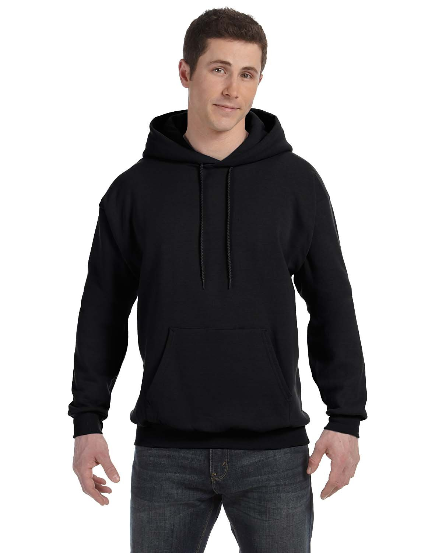 Hanes Unisex Ecosmart® 50/50 Pullover Hooded Sweatshirt BLACK