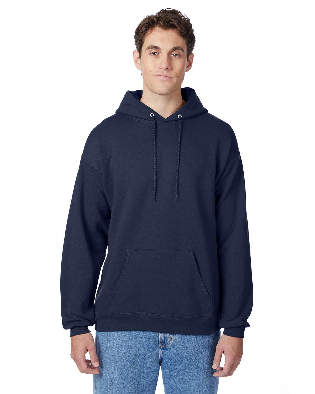 Hanes Unisex Ecosmart® 50/50 Pullover Hooded Sweatshirt NAVY