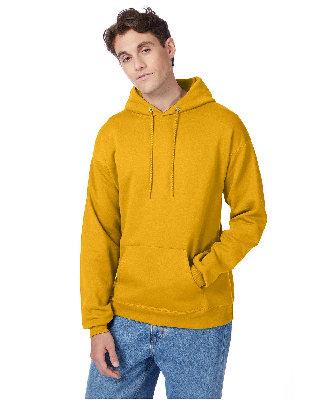 Hanes Unisex Ecosmart® 50/50 Pullover Hooded Sweatshirt GOLD