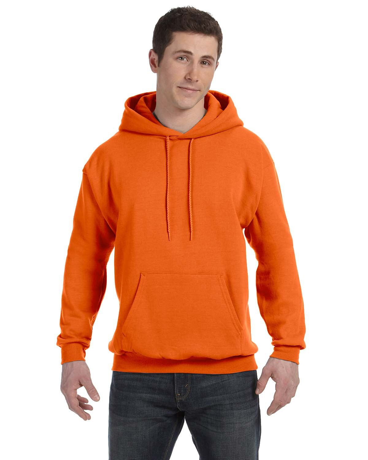 Hanes Unisex Ecosmart® 50/50 Pullover Hooded Sweatshirt ORANGE