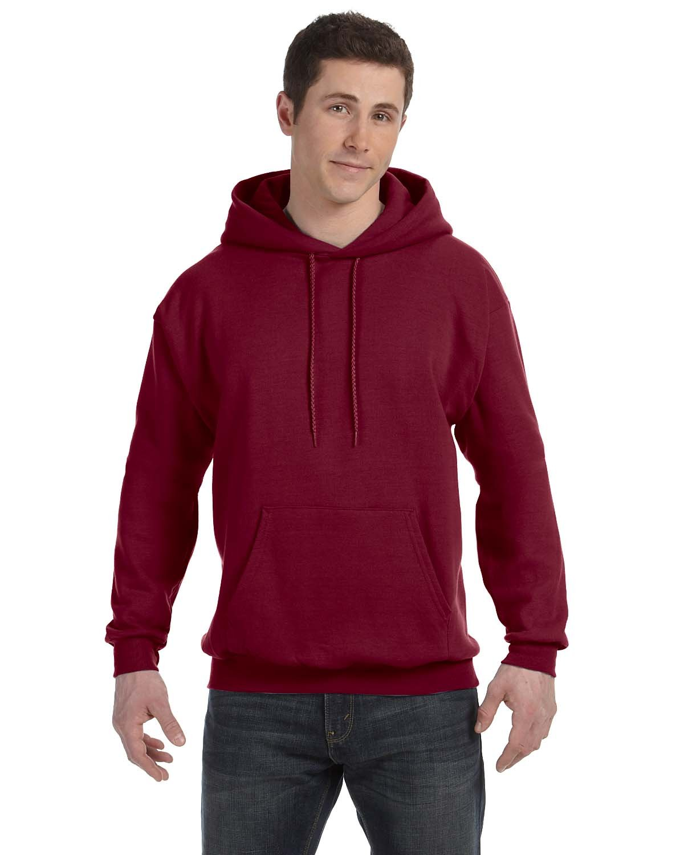 Hanes Unisex Ecosmart® 50/50 Pullover Hooded Sweatshirt CARDINAL