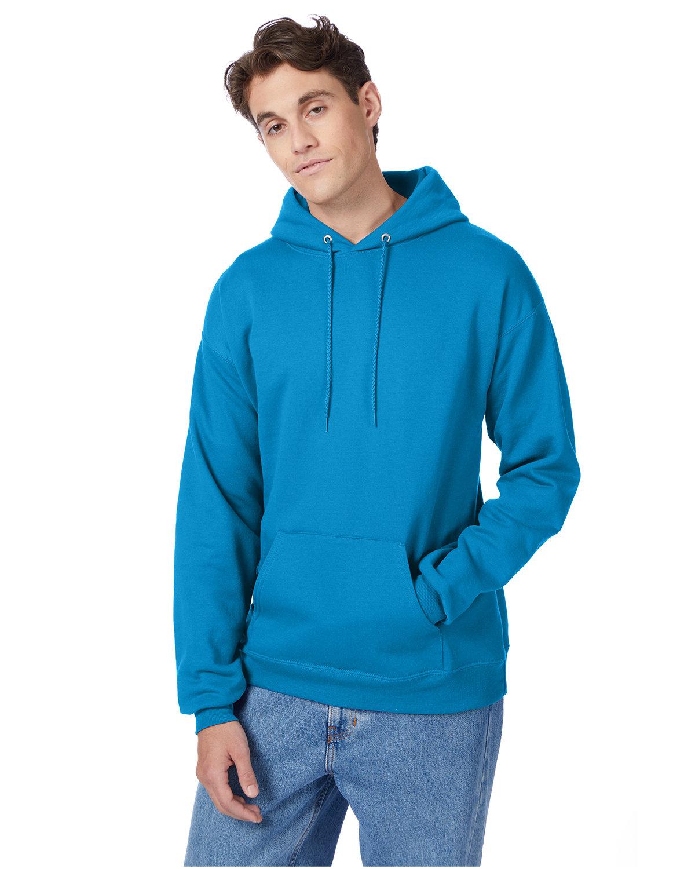 Hanes Unisex Ecosmart® 50/50 Pullover Hooded Sweatshirt TEAL