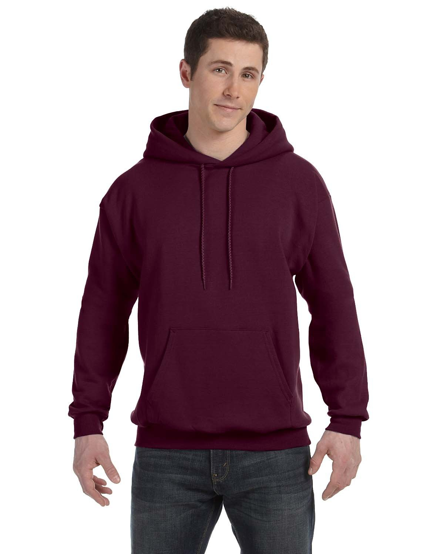 Hanes Unisex Ecosmart® 50/50 Pullover Hooded Sweatshirt MAROON