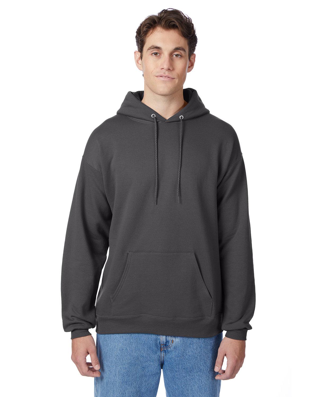 Hanes Unisex Ecosmart® 50/50 Pullover Hooded Sweatshirt SMOKE GRAY