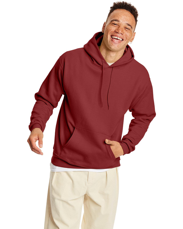 Hanes Unisex Ecosmart® 50/50 Pullover Hooded Sweatshirt GARNET