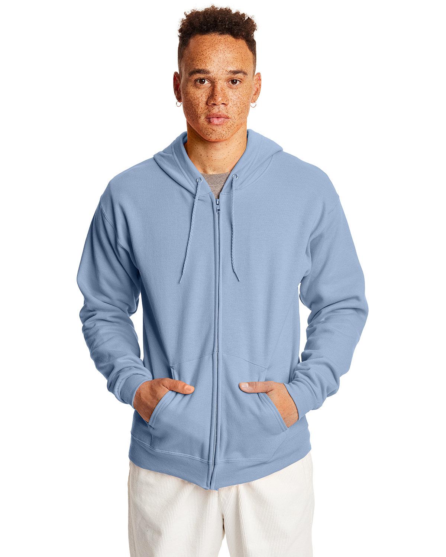 Hanes Adult EcoSmart® 50/50 Full-Zip Hooded Sweatshirt LIGHT BLUE