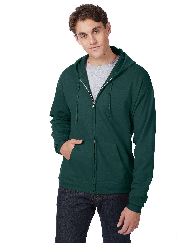 Hanes Adult EcoSmart® 50/50 Full-Zip Hooded Sweatshirt DEEP FOREST