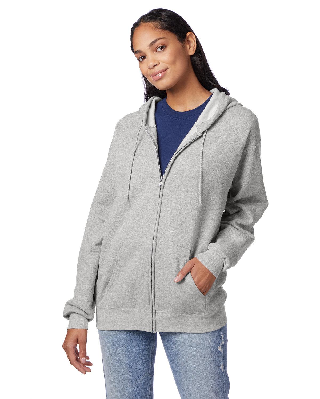 Hanes Adult EcoSmart® 50/50 Full-Zip Hooded Sweatshirt ASH