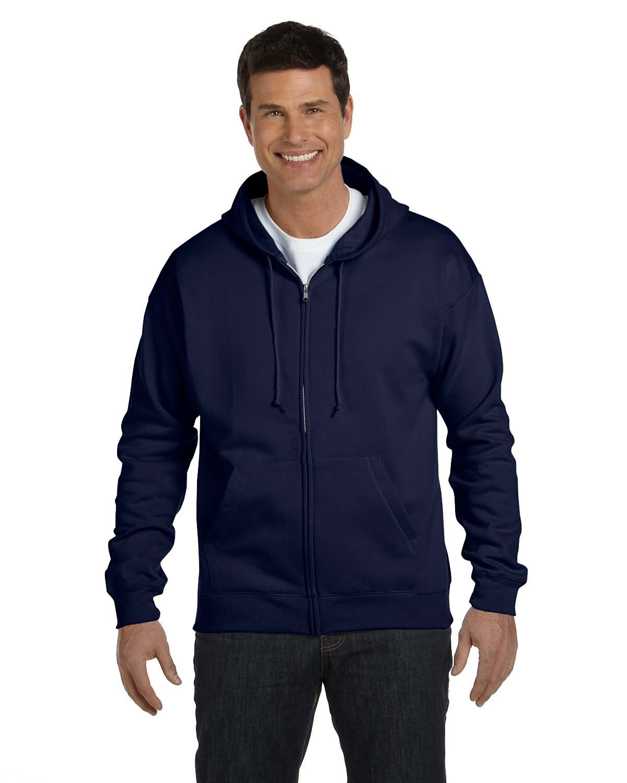 Hanes Adult EcoSmart® 50/50 Full-Zip Hooded Sweatshirt NAVY