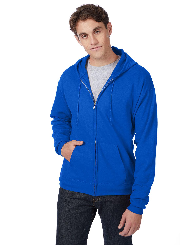 Hanes Adult EcoSmart® 50/50 Full-Zip Hooded Sweatshirt DEEP ROYAL