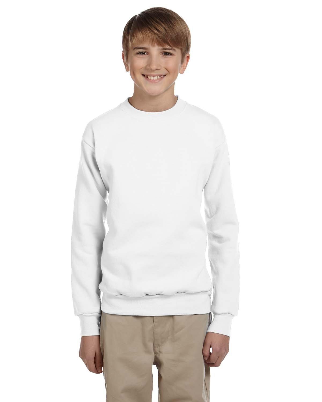 Hanes Youth ComfortBlend® 50/50 Fleece Crew WHITE