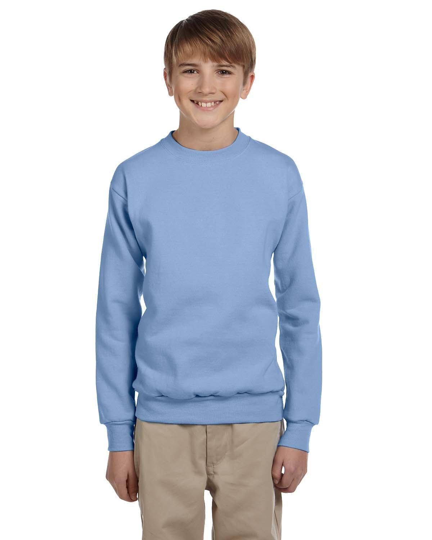Hanes Youth ComfortBlend® 50/50 Fleece Crew LIGHT BLUE