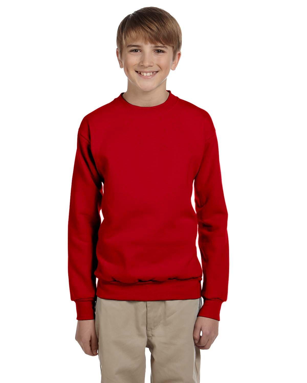 Hanes Youth ComfortBlend® 50/50 Fleece Crew DEEP RED