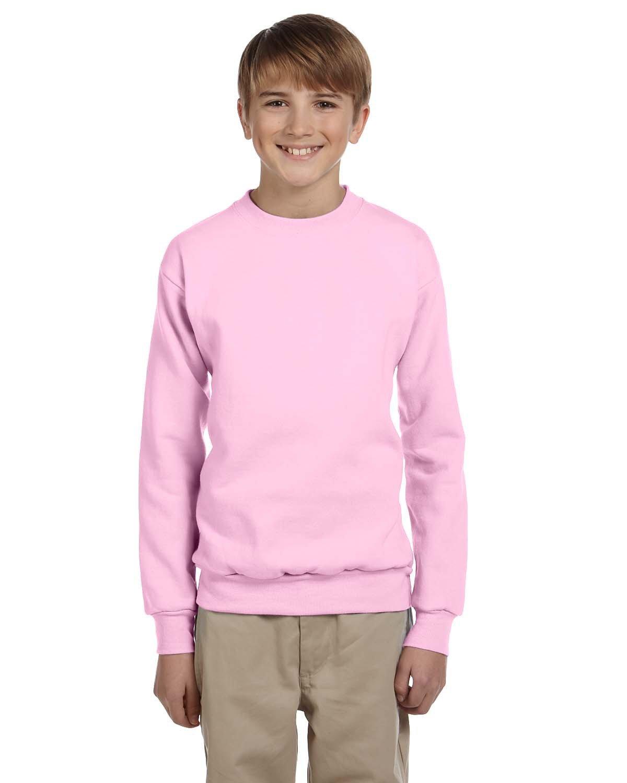 Hanes Youth ComfortBlend® 50/50 Fleece Crew PALE PINK