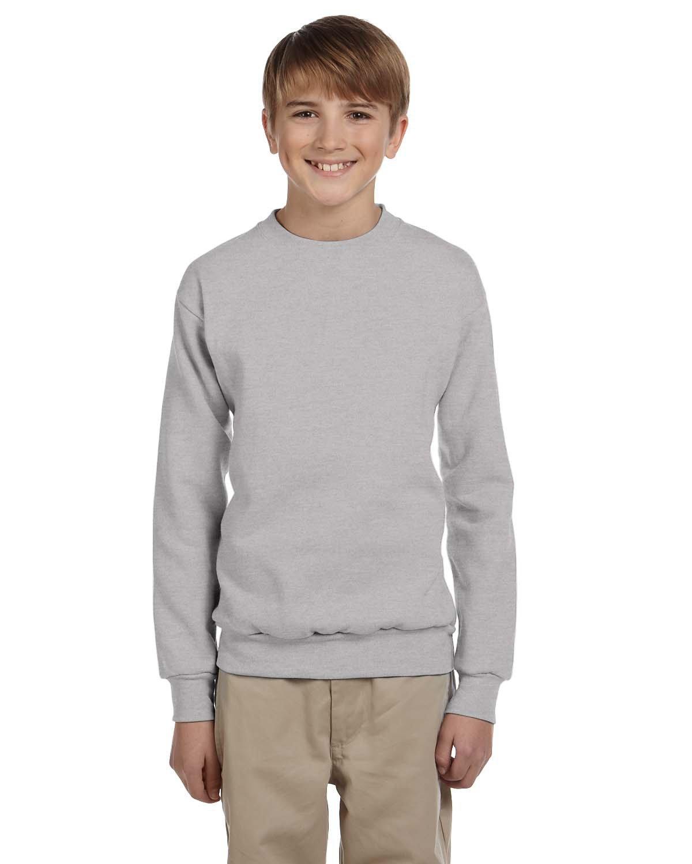 Hanes Youth ComfortBlend® 50/50 Fleece Crew LIGHT STEEL