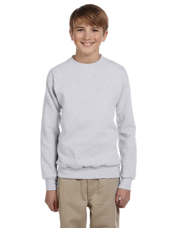 Hanes Youth ComfortBlend® 50/50 Fleece Crew ASH