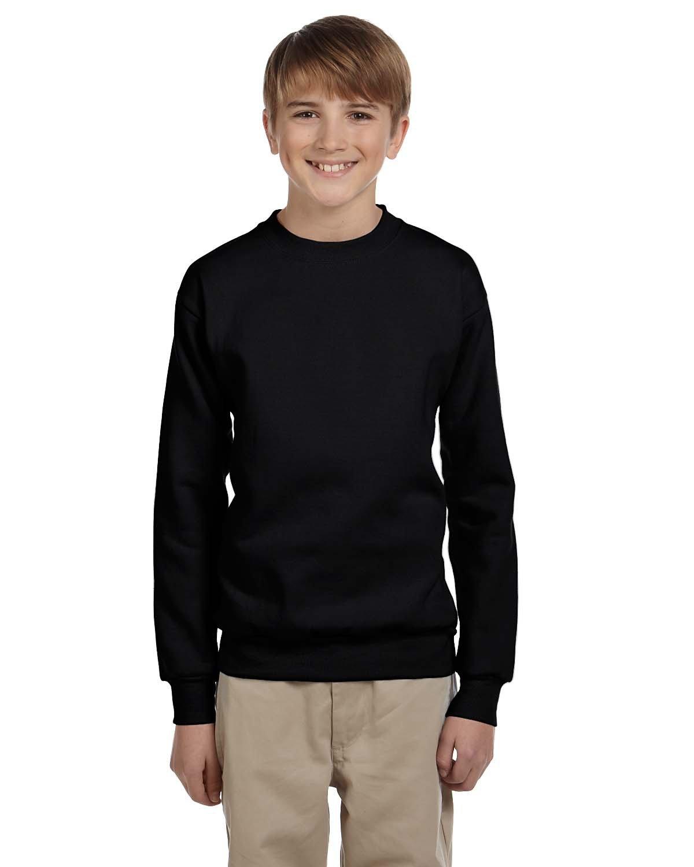 Hanes Youth ComfortBlend® 50/50 Fleece Crew BLACK